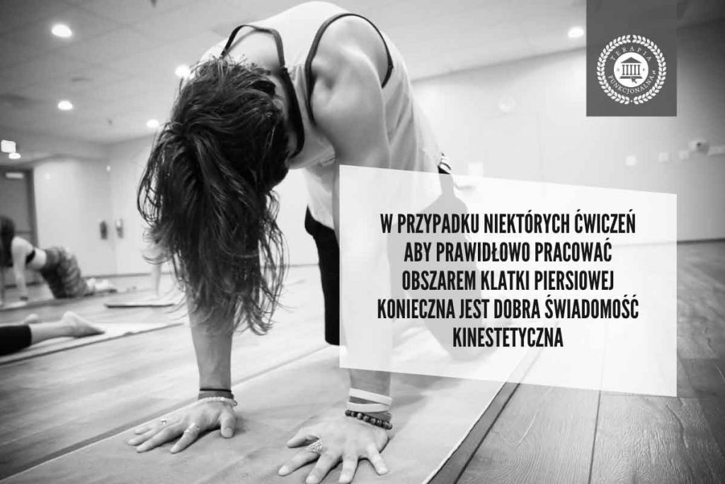 ćwiczenia na kręgosłup piersiowy i świadomość kinestetyczna